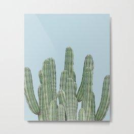 Cacti on Blue Metal Print
