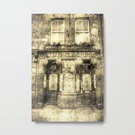 The Grapes Pub London Vintage Metal Print