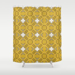 Ethnic pattern in yellow Shower Curtain