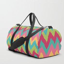 Bright Retro Chevron Zig Zag Pattern Duffle Bag