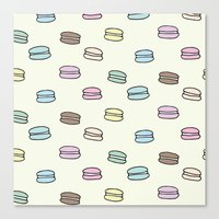macarons Canvas Prints featuring Macarons by Little Holly Berry