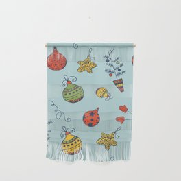 Christmas Toys Pattern Wall Hanging