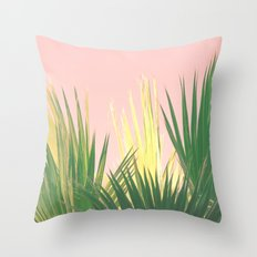 Neon Tropics II Throw Pillow