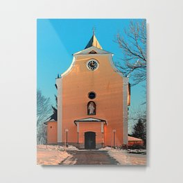 The village church of Berg bei Rohrbach II | architectural photography Metal Print