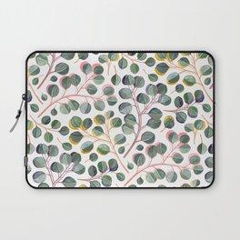Simple Silver Dollar Eucalyptus Leaves Laptop Sleeve
