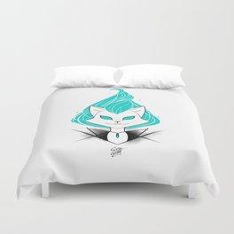 ScribbleNetty (Turquoise) Duvet Cover
