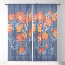 Midnight Garden Sheer Curtain