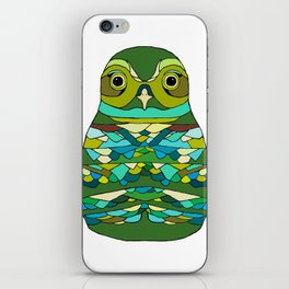 Green Owl iPhone Skin