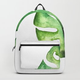 Watercolor Palm Leaf Backpack