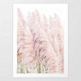 Pink Pampas Art Print