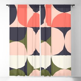 Abstract Geometric Composition 009 Blackout Curtain