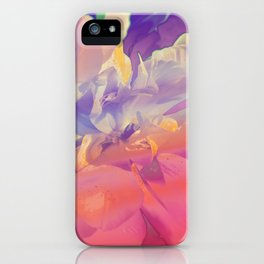Red Iridescent Flowers iPhone Case