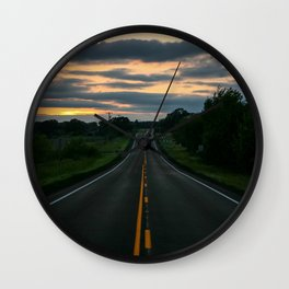 Just standin' in the middle of a country road and watchin' the sun set... Wall Clock