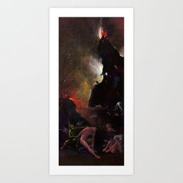 """Hieronymus Bosch """"Visions from the Hereafter - The River to Hell"""" Art Print"""