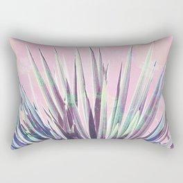 Vintage Yucca Palm - Pink Rectangular Pillow
