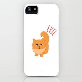 "Happy Halloween Shirt For October November Cat Animals""Cute But Evil"" T-shirt Design Creepy Spooky iPhone Case"
