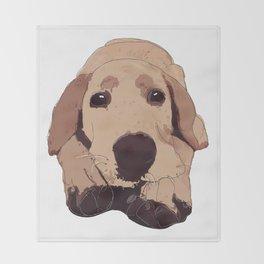 Golden Labrador Throw Blanket