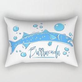 Big Blue Barracuda Rectangular Pillow