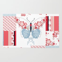 Cherry Blossom Butterfly Collection Rug