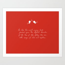 Be Like Two Sweet-Singing Birds [Red] Art Print
