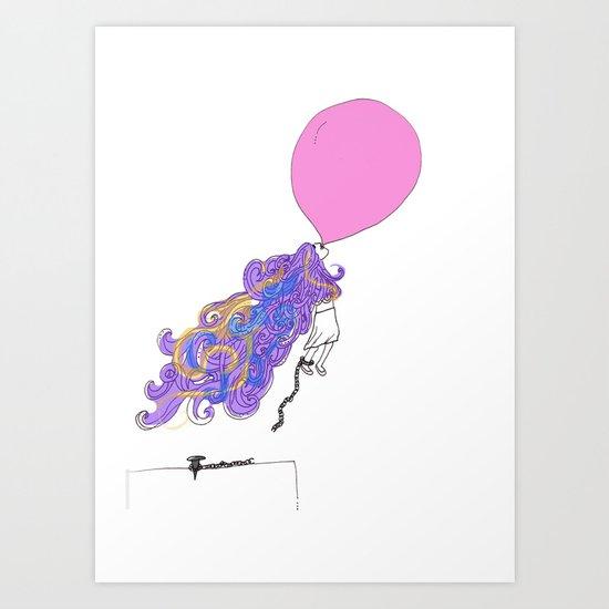Let the wind lead me. Art Print