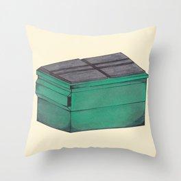 Dumpster #2 Throw Pillow