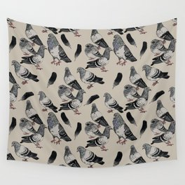 Pigeon Pattern Wall Tapestry