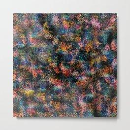 Wavy Pattern - Rainbow Metal Print