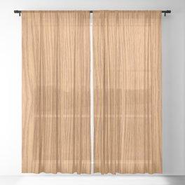 Wood Grain 4 Sheer Curtain
