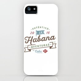 Vintage Havana Cuba Logo iPhone Case