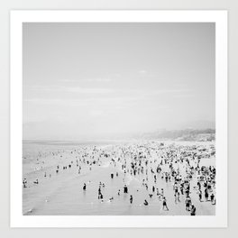 Santa Monica in Black and White Art Print