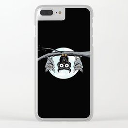 Cute Owl With Friends Clear iPhone Case
