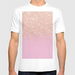 Rose gold glitter ombre on sweet lilac T-shirt