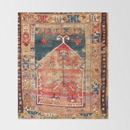 Konya Central Anatolian Prayer Rug Throw Blanket
