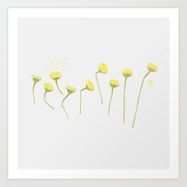 Singing Flowers Art Print