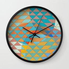 Triangle Pattern No. 11 Circles Wall Clock