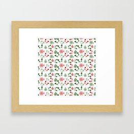 Christmas Cats and Ornaments Framed Art Print