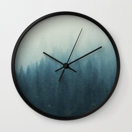 Into The Misty Nature - Turquoise II Wall Clock