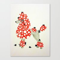 poodle Canvas Prints featuring Poodle. by ruffgaws