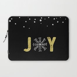 JOY w/White Snowflakes Laptop Sleeve