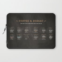 Coffee type and Zodiac sign #3 Laptop Sleeve