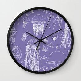 Jellies (Purple) Wall Clock