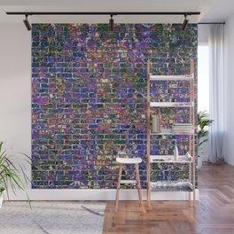 Blue Brick Grunge Wall Wall Mural