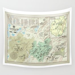 Adirondack 46er [vintage inspired] High Peaks area map Wall Tapestry