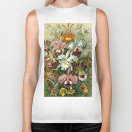 Victorian Orchids Floral Print-Ernst Haeckel Biker Tank