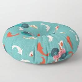 KOI AND LILY PADS Floor Pillow