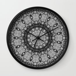 Black and White Lace Mandala A541B Wall Clock