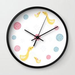 Ducky Mom n baby Wall Clock