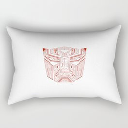 Autobot Tech Red Rectangular Pillow