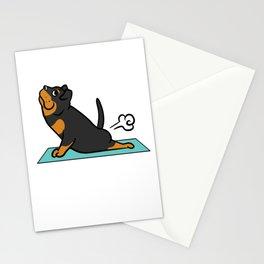 Rottweiler Yoga Pose Stationery Cards